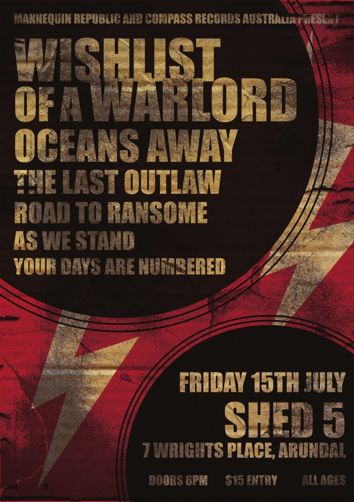 road to ransome now added to the line up for you gotta venue we gonna mosh all ages hardcore rock show at shed 5 july 15 2011