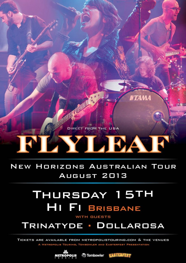 Flyleaf play Brisbane Queensland august 15 west end dollarosa trinatyde rock metal live music bands