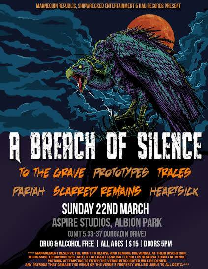 a breach of silence aspire studios albion park nsw sunday march 22 2015 all ages live hardcore rock punk metal power core alternative live bands music q music nominated award best heavy song