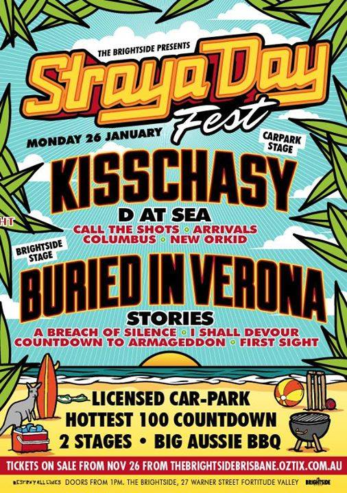 a breach of silence burried verona kisschasy d at sea stories straya day the brightside fortitude valley brisbane 1pm monday january 26 2015