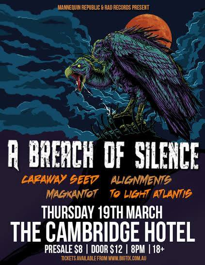a breach of silence cabridge hotel newcastle thursday march 19 2015 live hardcore rock punk metal power core alternative live bands music q music nominated award best heavy song