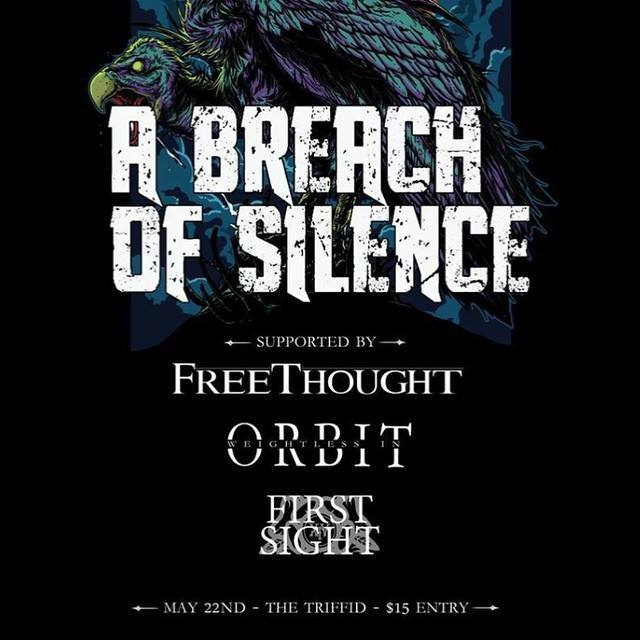 a breach of silence headline the tiffid newstead brisbane may 22 2015 friday night ,ive hardcore rock punk metal underground bands music