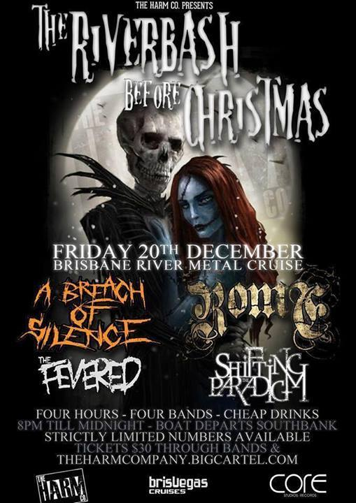 a breach of silence riverbash before christmas friday december 20 2013 live hardcore rock punk metal on a boat cruise down brisbane river christmas