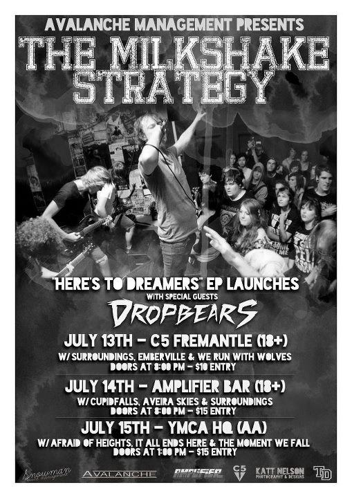 afraid of heights milkshake strategy july 15 2012 Perth sunday early 1:00 pm all ages $15 perth ymca hq