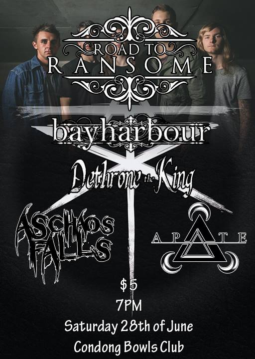 animus winter tour road to ransome bayharbour condong bowls club saturday June 28 2014 all ages live hardcore metalcore punk undergrounf heavy alternative live music bands in condong new south wales cheap entry