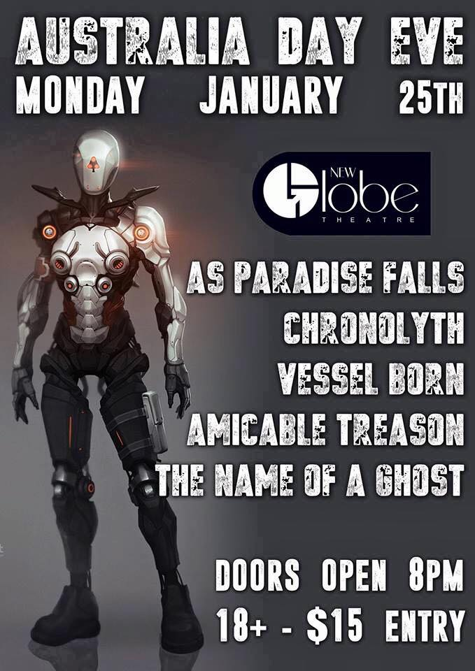 australia day eve as paradise falls new globe theatre fortitude valley brisbane monday january 25 2016 live hardcore rock metal punk alternative heavy music bands queensland sausage sizzle eating competition deathcore the valley