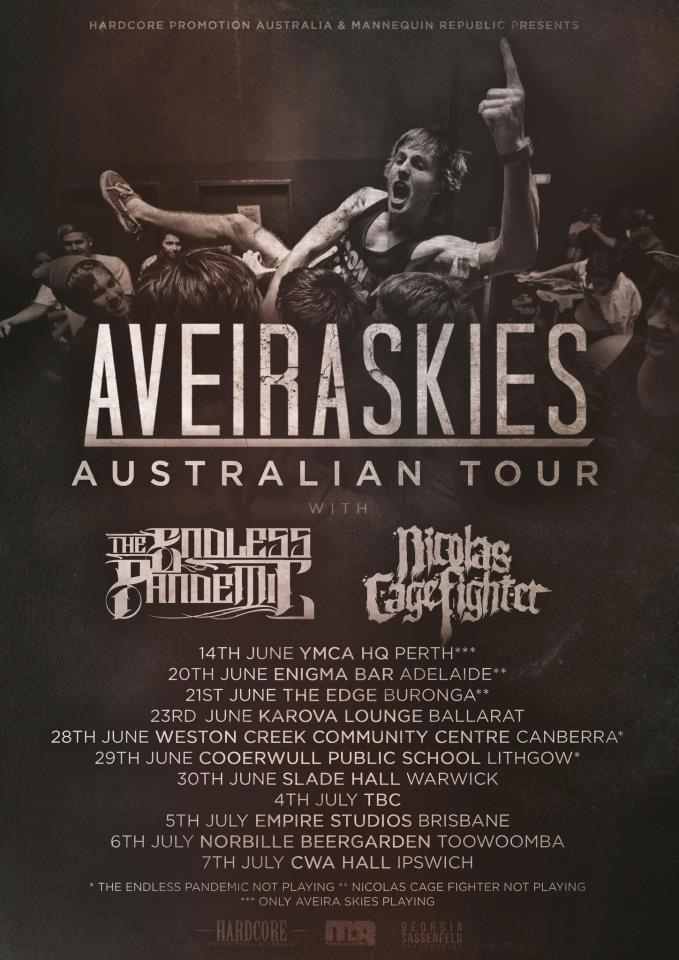 aveiraskies australia tour this fiasco june 22 2013 all ages musicland fawkner melbourne victoria road to ransome brisbane