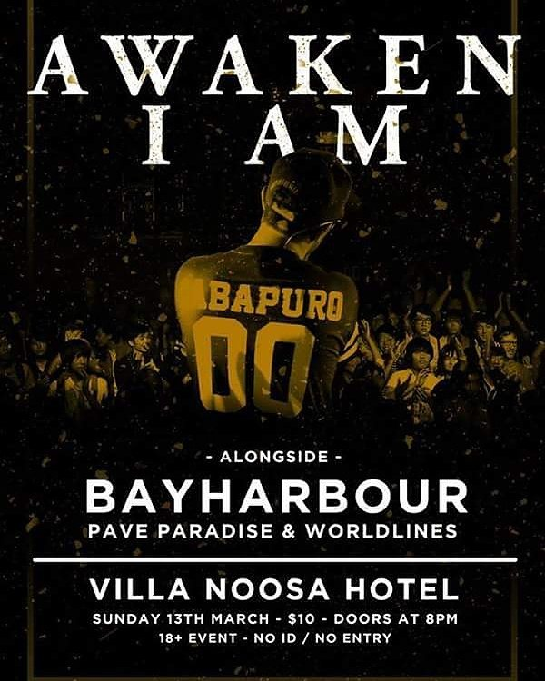 awaken i am bayharbour villa noosa hotel queensland sunday march 13 2016 live hardcore rock punk metal live bands music sunshine coast
