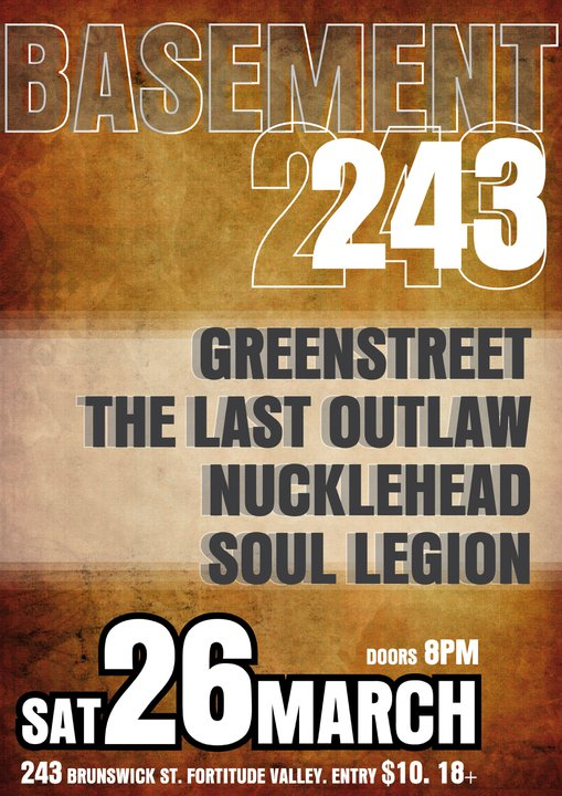 The Last Outlaw's Last Show at The Basment 243 Brunswick Street March 26