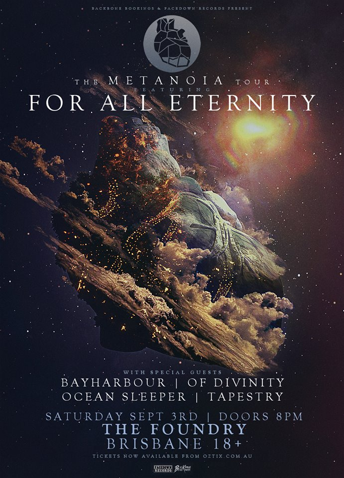 bayharbour for all eternity the metanoia tour the foundry brisbane saturday september 3 2016 metal hardcore punk rock live bands music national australia fortitude valley
