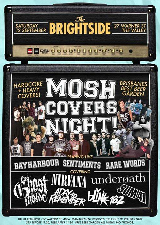 bayharbour mosh covers night the brightside brisbane september 12 2015 the ghost inside nirvana sum 41 blink 182 underoath a day to remember live rock hardcore metal punk alternative live bands music fortitude valley saturday night