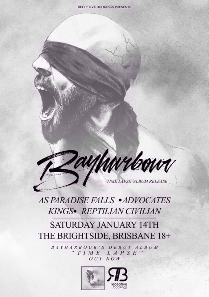 bayharbour time lapse album release party as paradise falls advocates kings reptilian civilian the brightside fortitude valley brisbane saturday january 14 2017 live hardcore rock punk metal alternative bands music australia queensland