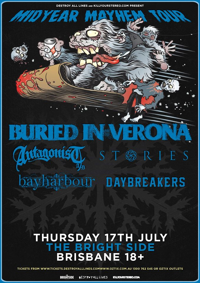 bayharbour with burried in verona bright side july 17 2014 midyear winter tour fortitude valley brisbane queensland hardcore metal rock punk live bands