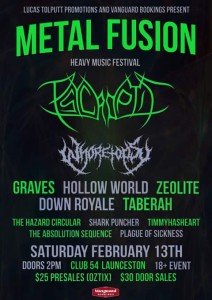 down royale metal infusion festival club 54 launceston tasmania february 13 2016 metal festival hardcore rock punk live bands vaelntine's day music