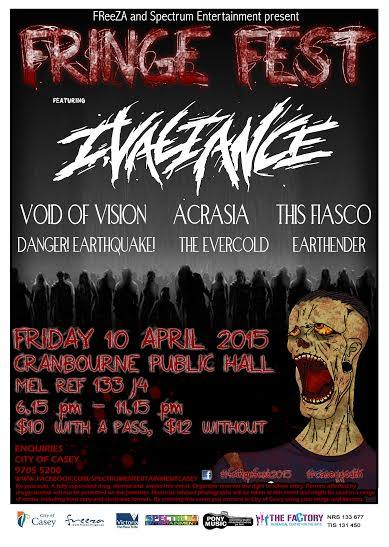 fringe fest this fiasco cranbourne public hall melbourne friday 10 april 2015 live hardcore rock punk metal alternative live music bands australia melbourne cranbourne casey victoria