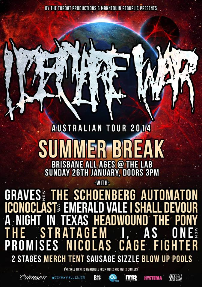 i declare war a night in texas mega show brisbane 2 stages the lab january 26 live punk rock metal underground music bands from america in australia the lab 5 Hubert Street Woolloongabba