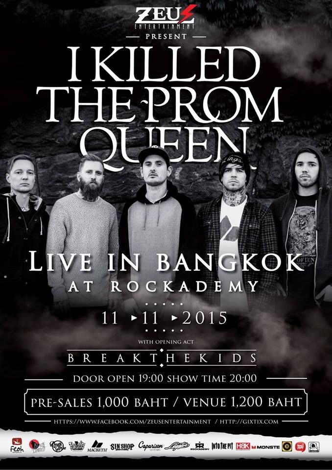 i killed the prom queen as paradise falls bangkok thailand rockademy november 11 2015 break the kids live hardcore rock punk metal heavy bands music