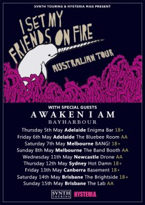 i set my friends on fire awaken i am bayharbour Australia tour May 2016 adelaidemelbourne newcastle sydney canberra brisbane all ages live hardcore rock metal bands usa america import international show
