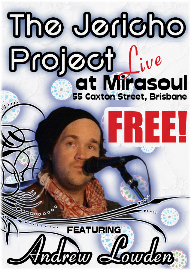 Andrew Lowden and friends showcase their newest blues folk and soul songs live on stage at Mirasoul every Sunday night from 8:00 free entry