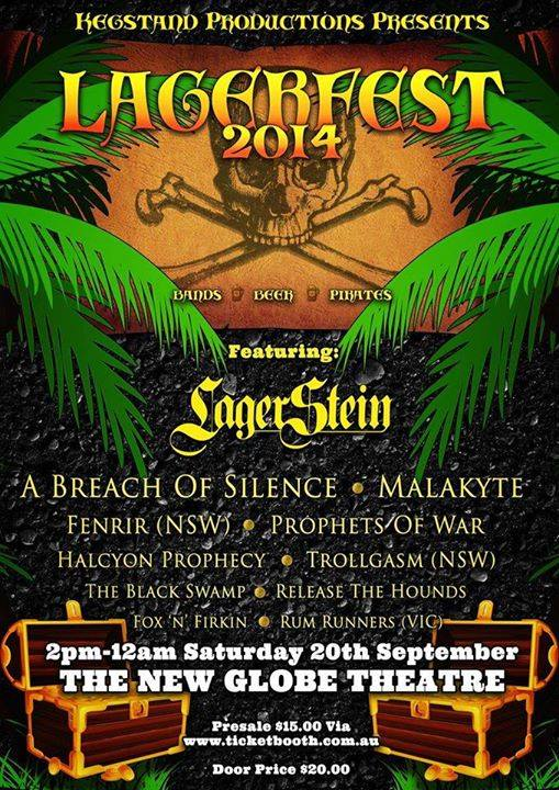 lagerfest 2014 a breach of silence new globe theatre brisbane saturday september 20 2014 live heavy rock metal pirate folk music 10 bands on stage fortitude valley brisbane