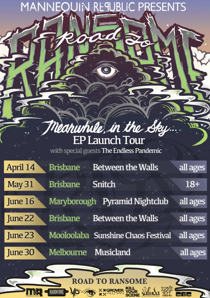 Road To Ransome launches their debut EP Meanwhile, In The Sky with a string of shows across Queensland and Melbourne. Get in and hear some of the best post-hardcore metal alternative rock underground music in Brisbane at a heap of all ages shows