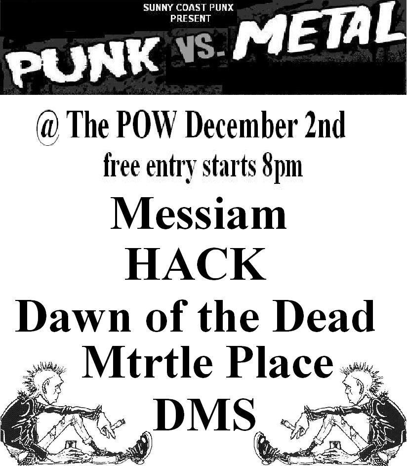 punk, rock, metal and alternative music explode from the prince of wales hotel nundah with 5 awesome live bands free entry cheep beer