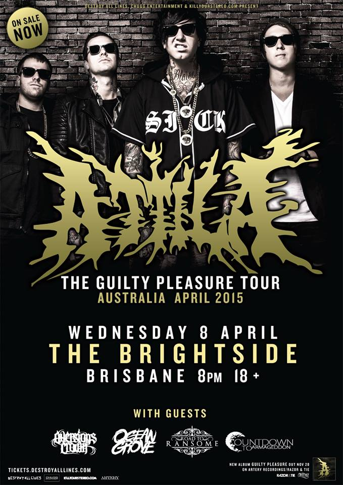 road to ransome attila the guilty pleasure tour brightside brisbane april 8 2015 fortitude valley album launch international american band live hardcore punk posthardcore deathcore rock metal music bands australia