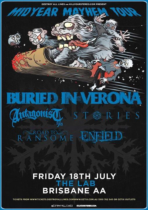 road to ransome with buried in verona the lab all ages woolloongabba July 18 2014 live rock metal hardcore punk all ages brisbane quensland