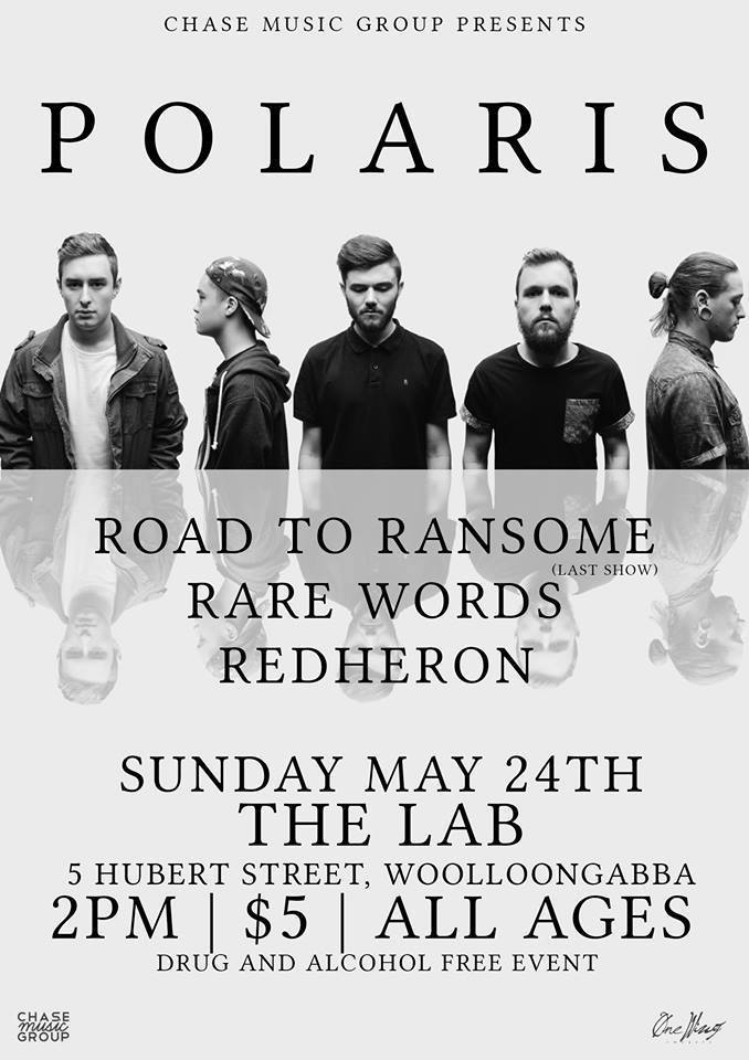 road to ransome farewell show the lab woolloongabba may 24 2015 all ages polaris the unfamiliar tour live hardcore rock metal punk free merch bands brisbane queensland mannequin republic last show
