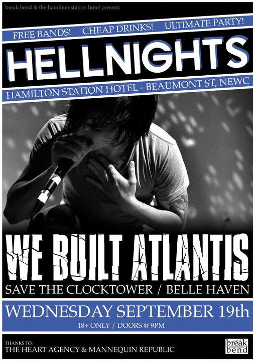 save the clocktower sep 19 2012 hamilton startion newcastle the human condition tour with we built atlantis belle haven mannequin republic free entry cheap drinks live metal hardcore rock music bands newcastle new south wales nsw