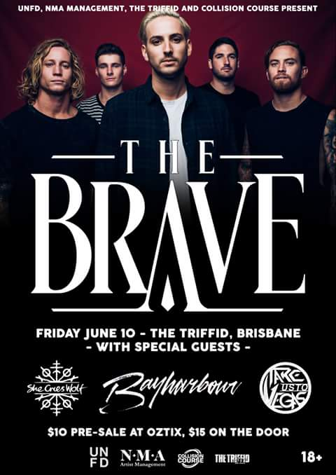 the brave bayharbour the triffed brisbane june 10 2016 live hardcore rock metal punk bands music Newstead