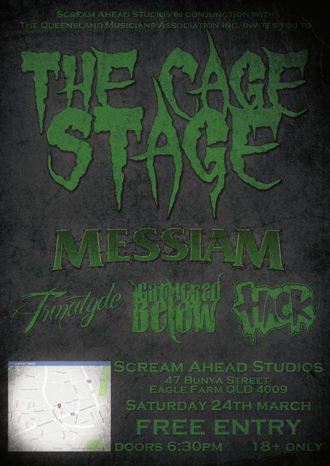 the cage stage messiam trinatyde gathered below hack eagle farm march 24