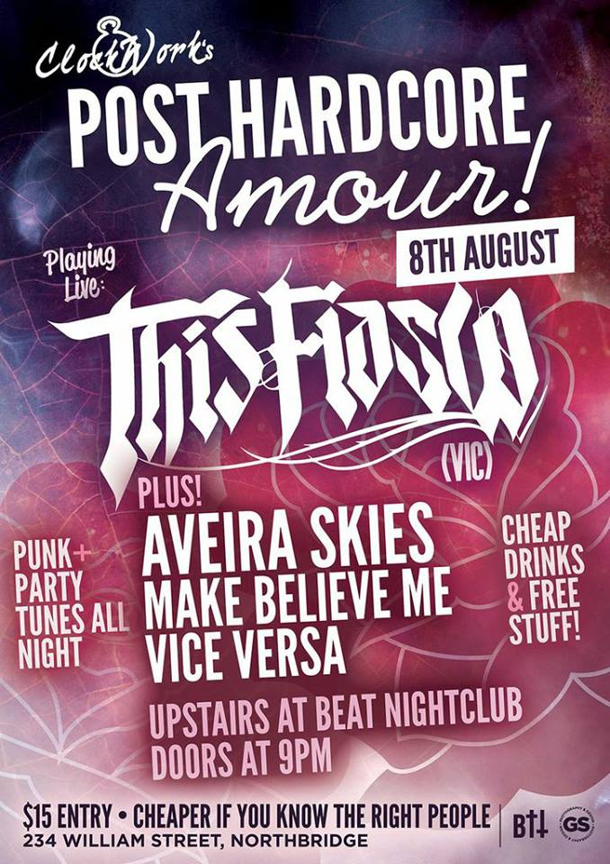 this fiasco aveira skies clockwork beat night club Northbridge Perth August 8 2013 live post hardcore punk rock bands music western australia