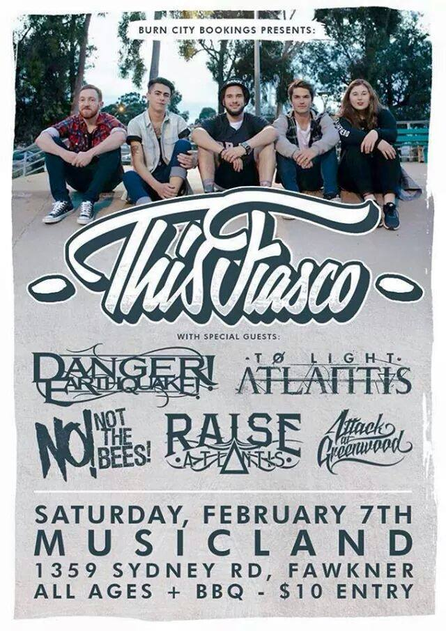 this fiasco musicland melbourne all ages february 7 2015 first gig of the year free bbx live bands music punk hardcore metal rock heavy pop victoria australia