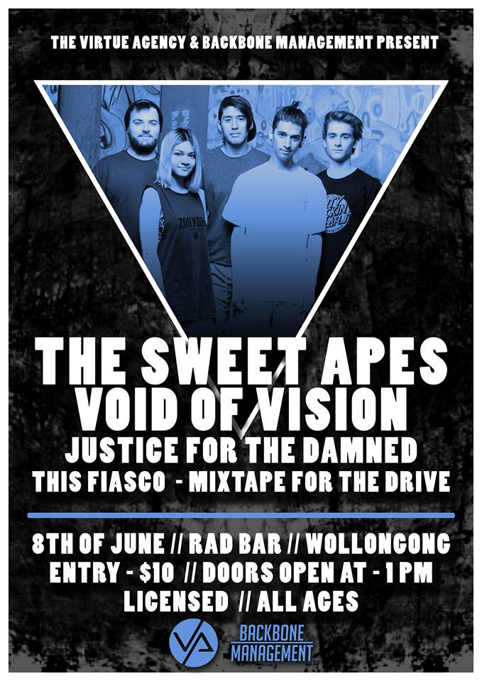 this fiasco with the sweet apes rad bar woollongong all ages and licensed june 8 2014 yours and owls live rock punk hardcore indie underground alternative music bands rurual new south wales nsw on tour