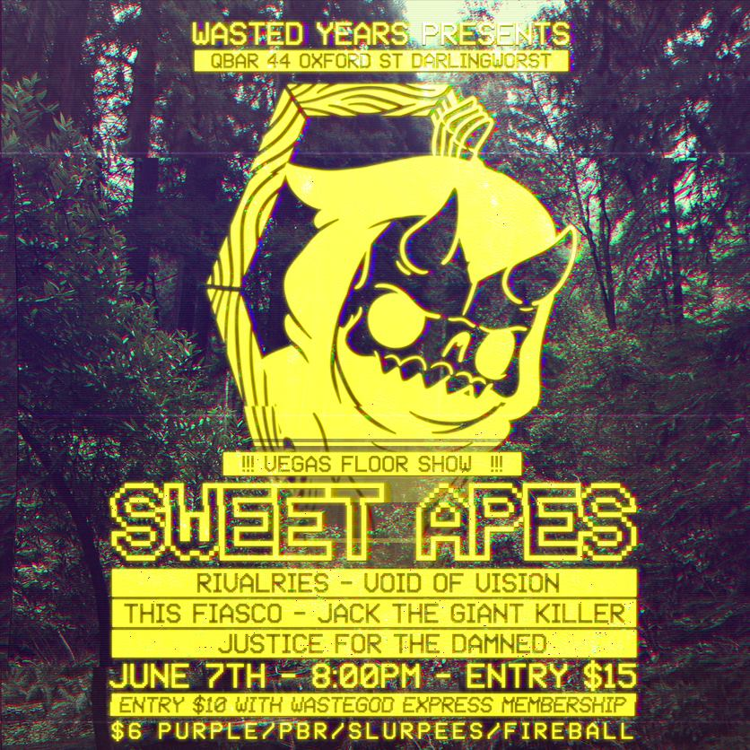 this fiasco with the sweet apes wasted years sydney june 7 2014 void of vision rivalries darlinghurst live rock punk metal hardcore bands music scene club