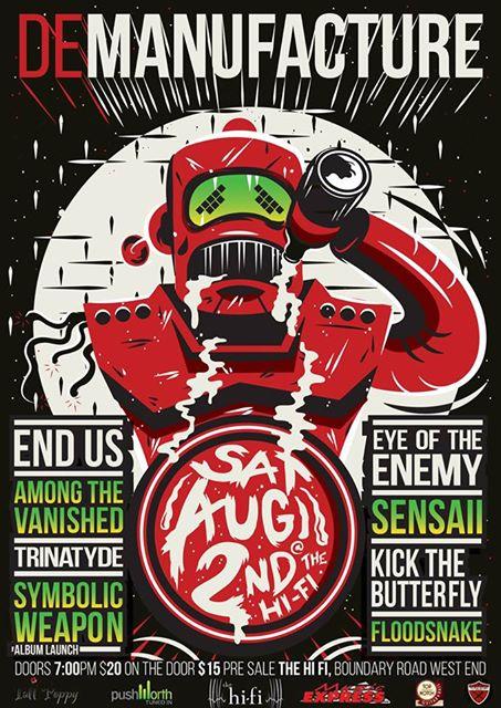 trinatyde demanufacture hi fi brisbane saturday august 2 2014 live heavy music brutal metal loud live bands west end