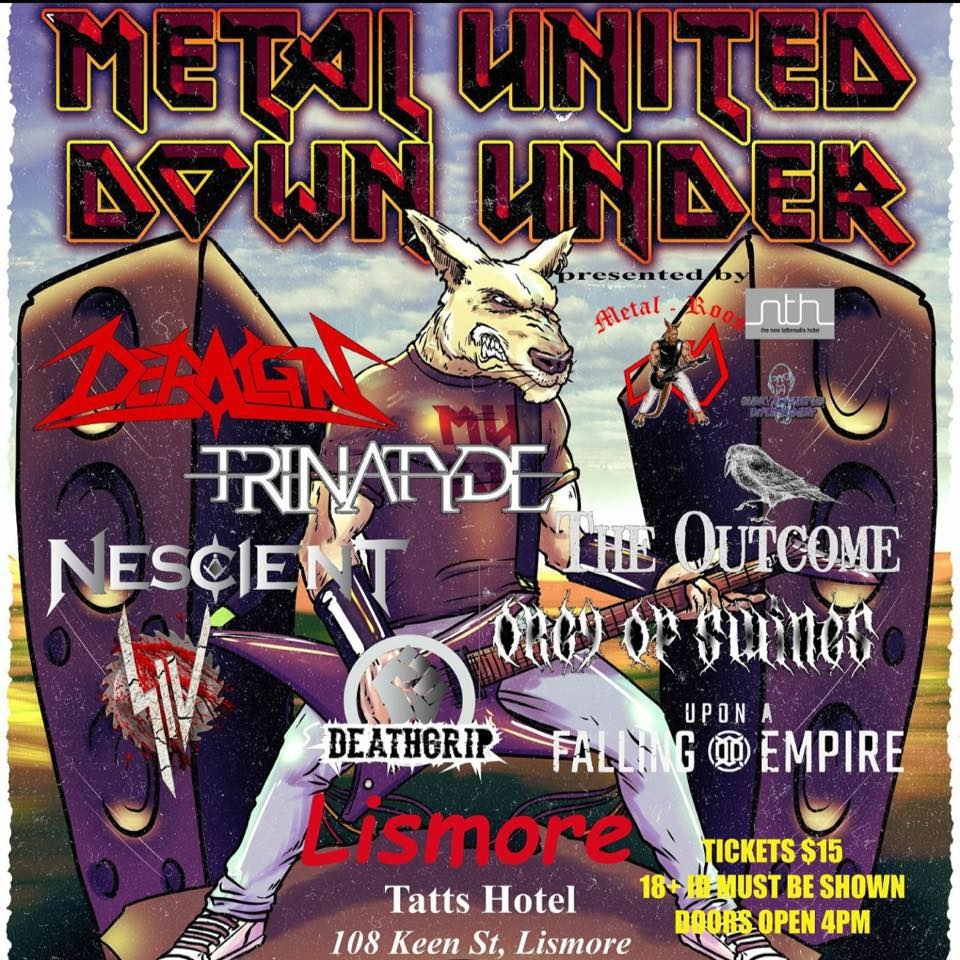 trinatyde in lismore october 15 2016 Tattersalls Hotel siv orgy of swines live rock metal live rock show bands new south wales