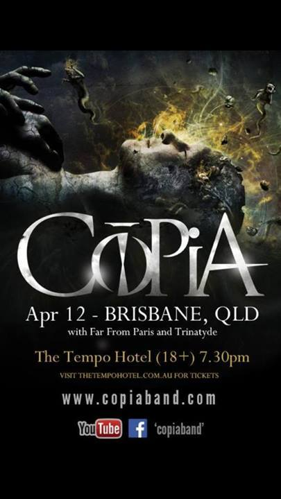 trinatyde with copia the tempo hotel brisbane april 12 2014 far from paris fortitude vale live rock metal heavy music bands cheap