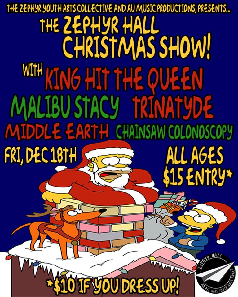 trinatyde zypher hall christmas show friday december 18 2015 southbank south brisbane queensland metal rock punk hardcore live bands music king hit the queen malibu stacy all ages youth show australia